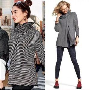 CAbi Fergie Turtleneck Overlap Sweater Small